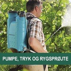 Pumpe-tryk-& rygsprøjter