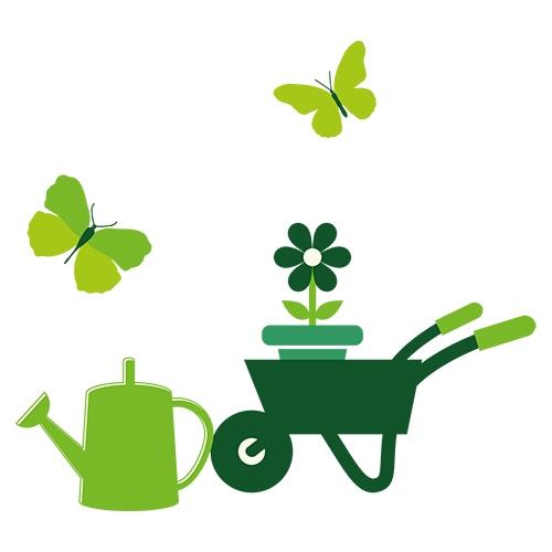 Blå firkantet krukke